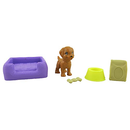 Barbie Replacement Parts Dollhouse Series Dreamhouse   FHY73 ~ Replacement Dog Parts Bag - Contents: Dog, Bowl, Bone, Food Bag and Bed