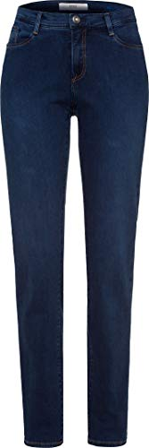 BRAX Damen Mary Planet Five Pocket Fit sportiv Slim Jeans, Blau (Slightly Used Regular Blue 25), 46