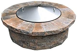 Stainless Steel Metal Conical Fire Pit Ring Snuff Cover Spark Lid 37
