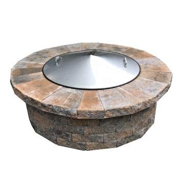 Stainless Steel Metal Conical Fire Pit Ring Snuff Cover Spark Lid 37' Diameter