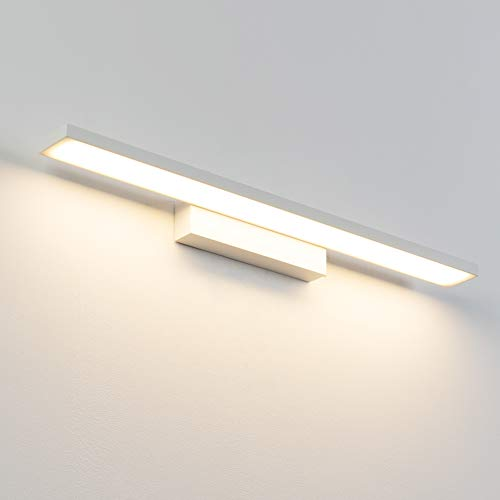 Klighten LED Spiegelleuchte, wasserdichte LED Wandleuchte für Spiegel, 12W, 720LM, Weiß, 61CM LED Spiegelleuchte für Schlafzimmer, Badezimmer, Wohnzimmer, Warmweiß