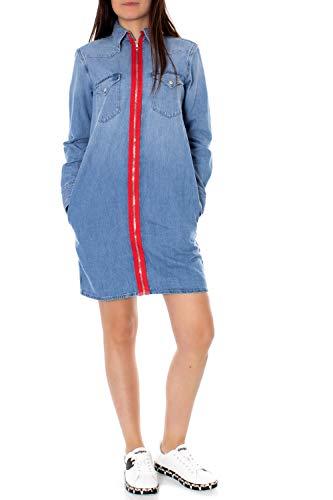 Calvin Klein Jeans Damen Blusenkleid Foundation blauM (38)