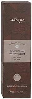 Mantra Authentic Ayurveda Herbal Walnut and Wheat Germ Face Scrub for Men (100 ml / 3.38 fl oz)