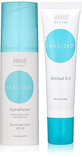 Obagi360 HydraFactor Broad Spectrum SPF 30 Sunscreen And Obagi Medical 360 Retinol 0.5.