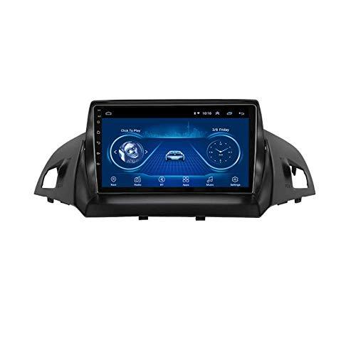 Hesolo Coche Reproductor Multimedia Radio Video Estéreo 9 Pulgadas 4 Núcleos Android 8.1 Sistema de Navegación GPS Compatible para Ford Kuga Escape 2013-2017 (RAM 2G + ROM 32G)