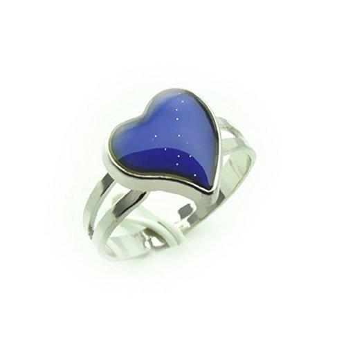 Lookout cambia color plateado forma corazón anillo