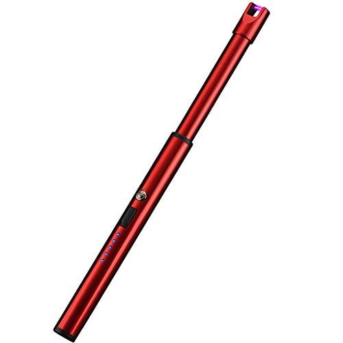Aploa Lichtbogen Feuerzeug Elektrisch USB Feuerzeuge Wiederaufladbar Winddicht Tragbar Plasma Feuerzeug Arc Lighter Aufladbar Abflammgeräte Grillanzünder Grillersatzteile für Outdoor Camping (Rot)