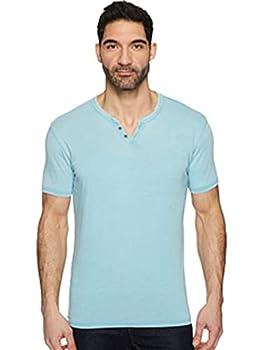 Lucky Brand Men s Venice Burnout Notch Neck Tee Shirt Delphinium Blue X-Large