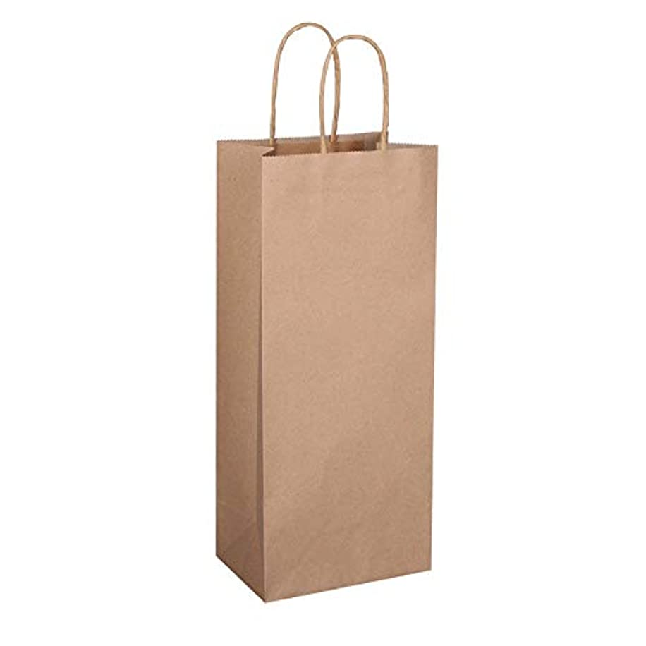 Flexicore Packaging | Brown Kraft Paper Wine Bags | Size: 5.5