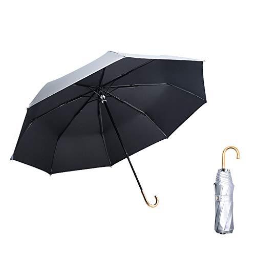 WWDKF Mini Sombrillas De Protección Solar De Titanio Plateado De 8 Huesos, Paraguas De Protección Solar Y Protección UV,C