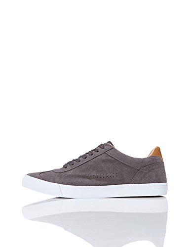 find. Sneaker Basse in Pelle Scamosciata Uomo, Grigio (Grey), 44 EU