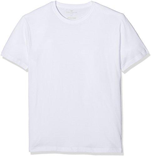 TOM TAILOR Underwear Herren Shirt, 1/2, Rundhals 2er Pack Unterhemd, Weiß (Weiss 1000), XX-Large (Herstellergröße:XXL/8)