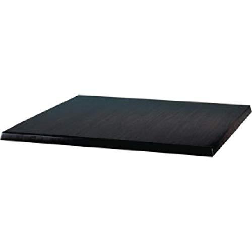 Werzalit Plus Cc514 carré Dessus de table, 600 mm, Noir