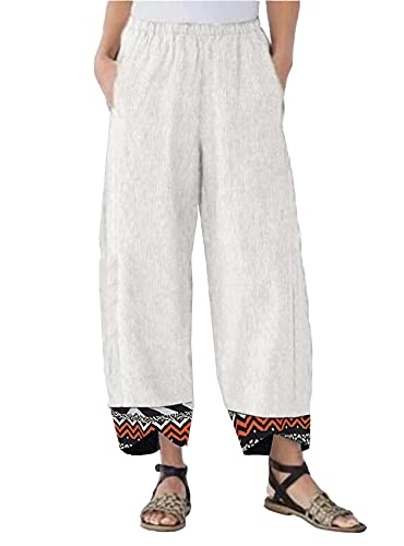 WXMSJN Pantaloni Casual da Donna Pantaloni Multicolori Stampati