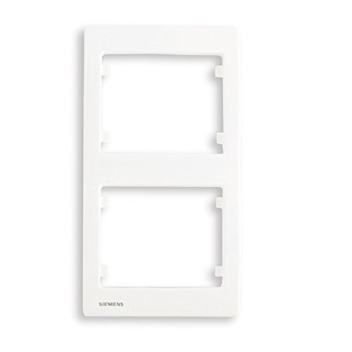 Siemens – Placa doble vertical, color blanco Delta Iris Siemens