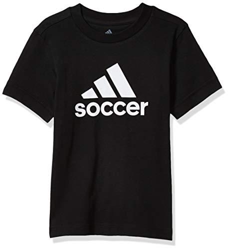 adidas Bos YTH Soccer - Camiseta de Manga Corta para niño, Niños, Manga Corta, GLS33, Negro, XS