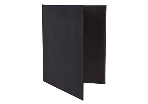 Many popular brands Winco Two-Views Menu Attention brand Cover for 8-1 Inserts Black X 11