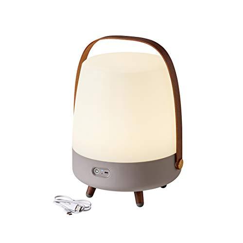 Kooduu Lite-Up Play - Design LED-Licht und Bluetooth-Lautsprecher Innovatives Licht-Objekt mit Zusatznutzen - Beleuchtung, Bluetooth-Speaker & Dekoration durch Dänisches Design - 29x40cm - Earth