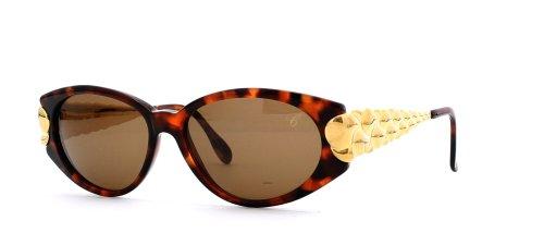 Chopard C533 6062 Damen-Sonnenbrille, quadratisch, zertifiziert, Vintage-Stil, Braun / Gold