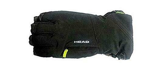 HEAD Men's Dupont Sorona Insulated Ski Glove with Pocket (S, Black)