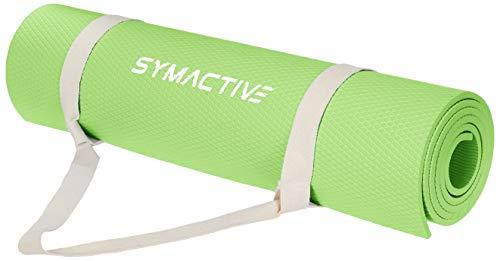 Amazon Brand - Symactive Exercise Yoga Mat, 6mm, Green