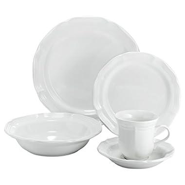 Mikasa 5223388 16 Piece French Countryside Dinnerware Set, Cream