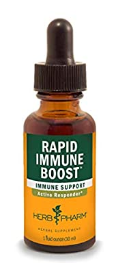 Herb Pharm Rapid Immune Boost Liquid Herbal Formula for Active Immune Support from