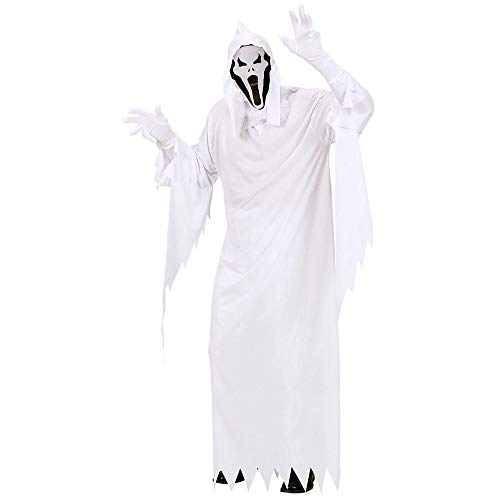 WIDMANN 02682 - Erwachsenenkostüm Gespenst, Tunika, Maske mit Kapuze, Größe M