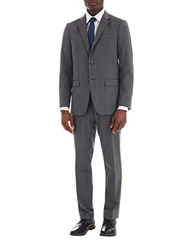 Ben Sherman Mens Modern Fit Suit Separate Blazer, Gray, 40R
