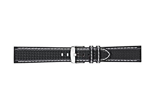 cinturino da Uomo, Collezione Sport, Mod. Biking, In Vera Pelle Di Vitello - EFFETTO Fibra Di Carbonio - A01U3586977