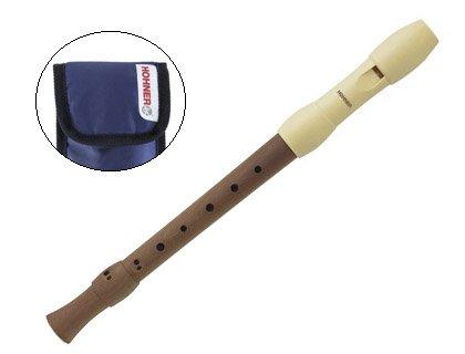 Flauta Dulce Soprano Hohner (9585 0) Alegra Mixta (Digitacion Alemana) (2 Piezas) Boquilla Marfil