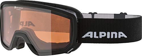 ALPINA SCARABEO S Skibrille, Unisex– Erwachsene, black, one size