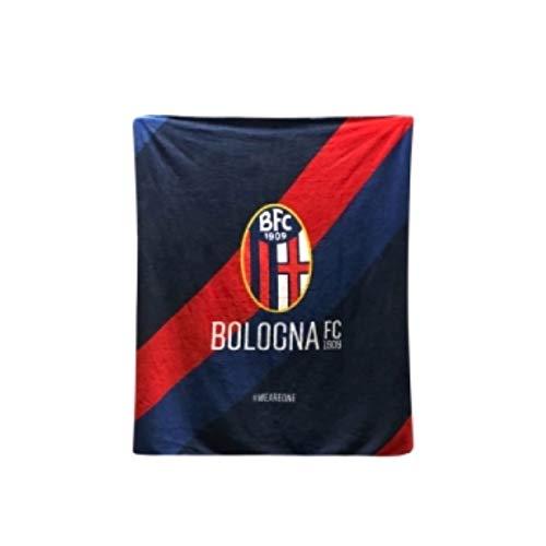Bologna Fc 1909, Plaid Logo Bologna FC Unisex – Adulto, RossoBlù, No Size