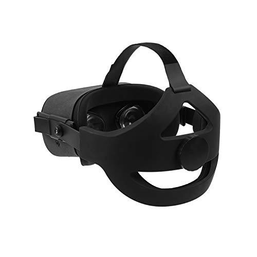 Esimen Adjustable Head Strap for Oculus Quest Elite Strap Headband Comfort Foam Pad Strap, Ergonomisches Design Balance Weight, Relieve Face Squeeze ( Black Q1)