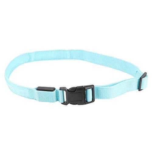 Annjom Cinturón Reflectante LED, poliéster + cinturón de Cintura para Correr de plástico para entornos Oscuros para Actividades nocturnas(Blue)