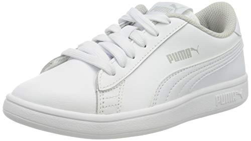 PUMA Unisex-Kinder Smash V2 L Ps Sneaker, Weiß (Puma White-Puma White), 29 EU