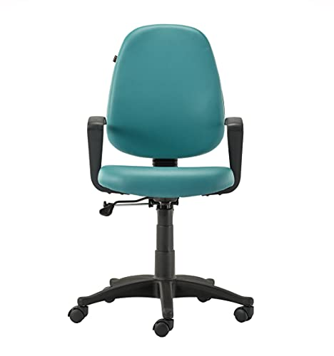 HOF ECO-302 Series Computer Student Study Chair, Cushion Mid Back Base Office Executive Chair Leatherette Seat Height Adjustable &...
