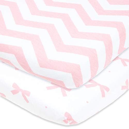 Cuddly Cubs Fitted Pack n Play Sheets Compatible With Graco, Guava Lotus Playard and Other Playpen, Play Yards, Portable and Mini Crib | Pink Pack and Play Sheets