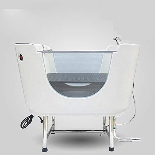 QNMM Haustierhundekatze, Die Poolbadewanne-Plastikbadewanne Mit Badekurort-Funktion Badet