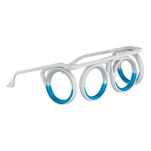 Anti-Motion Sickness Glasses, Ultra-Light Foldable Fruity Fragrance Magnetic Adsorption, Eye Level Liquid Lensless Glasses For Adult Or Child Travel Aircraft Car Boat
