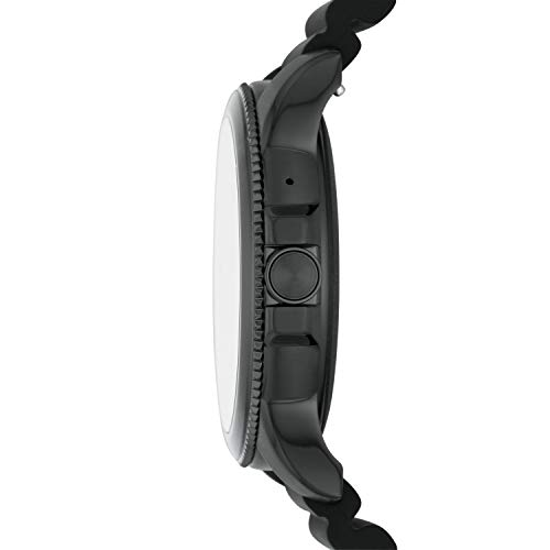 Fossil Gen 5E Men's Smartwatch with silicone strap, Full Touch, AMOLED screen, Bluetooth calling, and Built-in GPS - FTW4047
