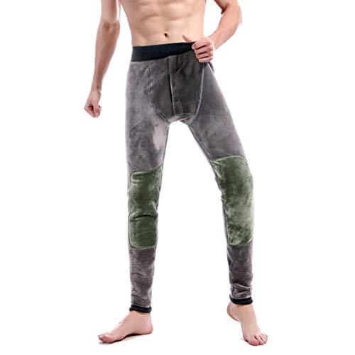 Huicai Männer Winter Warme Lange Kniepolster Verdickung Unterwäsche Leggings Thermohose weiche elastische hohe Taille Enge Stretch-Hose