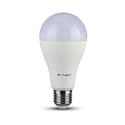 V-TAC VT-2015 Energy-Saving lamp 15 W E27 A+ - LED-Lampen (15 W, E27, A-Form, 1500 lm, 20000 h, 100 W)