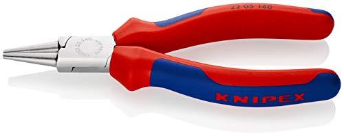 KNIPEX 22 05 140 Rundzange verchromt mit Mehrkomponenten-Hüllen 140 mm