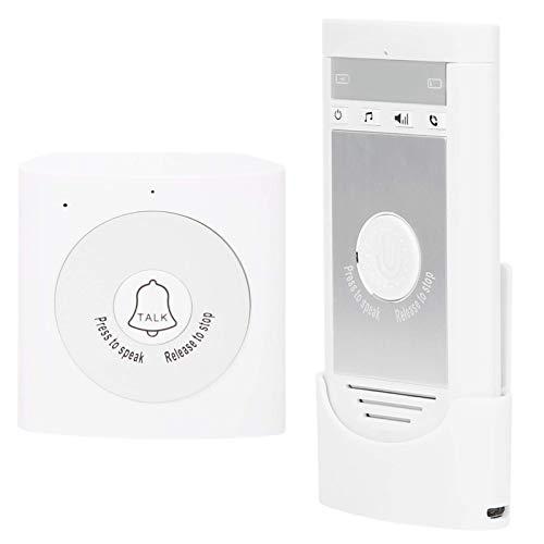 ワイヤレス インターホン ドアベル 120dB 着信音 200M 信号伝送 ポータブル ドア チャイム 低消費電力 ホーム セキュリティ システム (ホワイト)