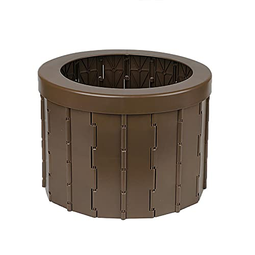 LDS Secchio WC Pieghevole Portatile per Auto Sedile WC Mobile da Esterno Porta vasino Sgabello Pieghevole Sedile Leggero WC per Auto Lavabile, Deodorante, Multifunzione Brown