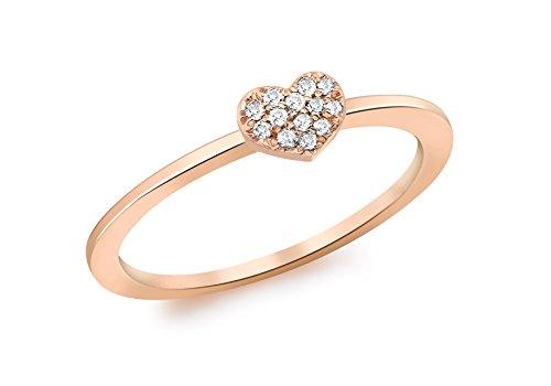 Carissima Gold Anillo de mujer con oro rosa, diamante, talla 15