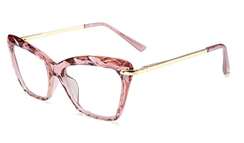 FEISEDY Cat Eye Glasses Frame Crystal Occhiali da vista non graduati Women B2440