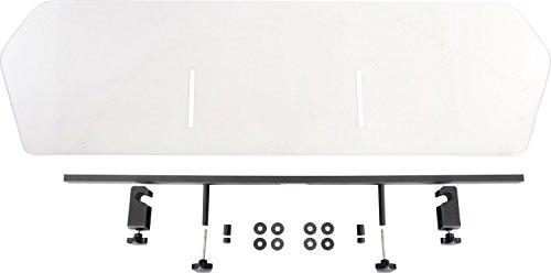 dobar 62210 Walky Air - zeer stabiele kofferbakscheider voor huisdieren, onbreekbare polycarbonaat plaat voor optimale veiligheid in de auto, 80 x 34 cm, L, transparant