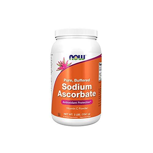 NOW Supplements, Sodium Ascorbate Powder, Buffered, Antioxidant Protection*, 3-Pound